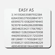 Easy as pi Mousepad