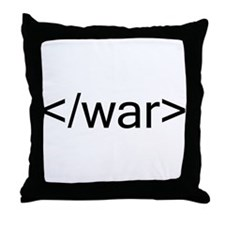 End war html code Throw Pillow