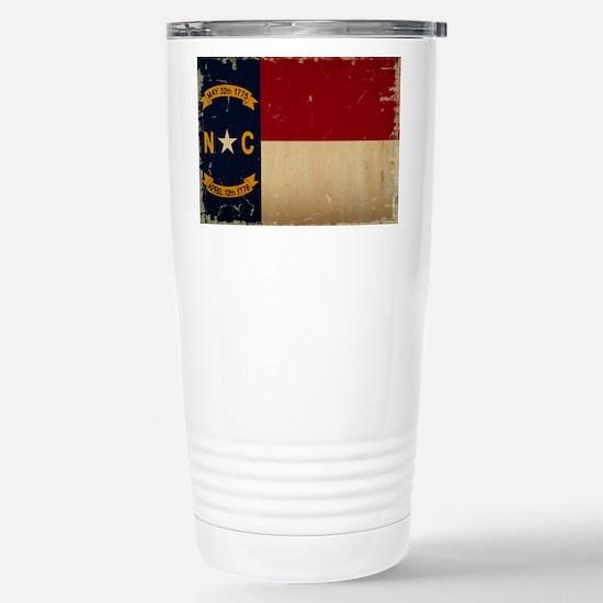North Carolina State Flag VINTAGE Travel Mug