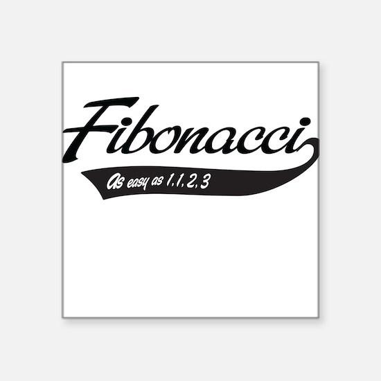 Fibonacci as easy as 1,1,2,3 Sticker