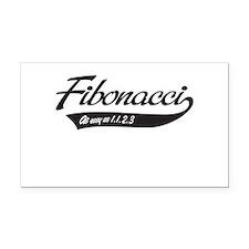 Fibonacci as easy as 1,1,2,3 Rectangle Car Magnet