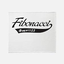 Fibonacci as easy as 1,1,2,3 Throw Blanket