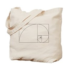 Fibonacci spiral Tote Bag