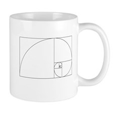 Fibonacci spiral Mugs