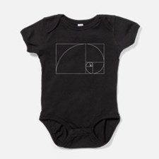 Fibonacci spiral Baby Bodysuit