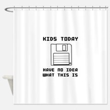 Floppy disk kids no idea Shower Curtain