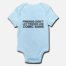 Friends don't let comic sans Body Suit
