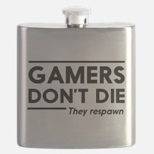 Gamers don't die, they respawn Flask