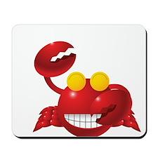 Smiling Crab Humorous Mousepad