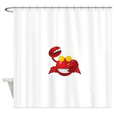 Smiling Crab Humorous Shower Curtain