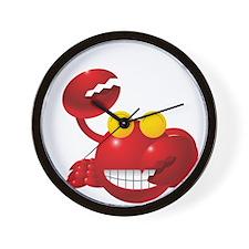 Smiling Crab Humorous Wall Clock