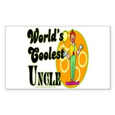 World's Coolest Uncle Rectangle Decal