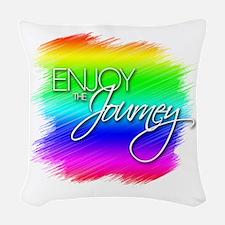 Enjoy The Journey - Woven Throw Pillow