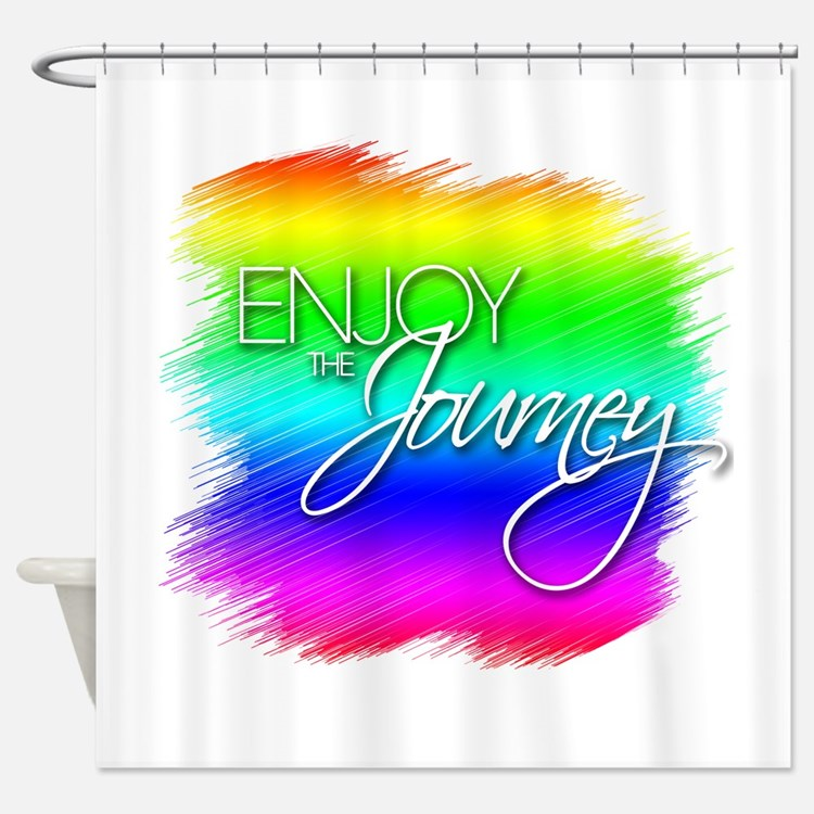 Enjoy The Journey - Shower Curtain