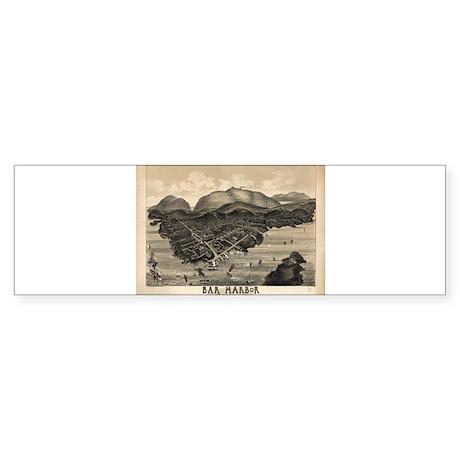 Antique map of Bar Harbor, Ma Bumper Sticker