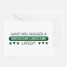 Hugged Lundehund Greeting Cards (Pk of 10)