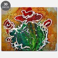Cactus, southwest art Puzzle