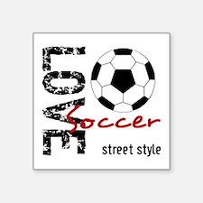 Cafepress Love Soccer Street Style Black/Red Stick