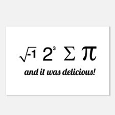 I ate some pie math Postcards (Package of 8)