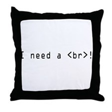 I need an html break Throw Pillow