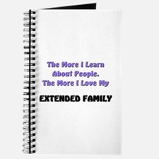 more I learn about people, more I love my EXTENDED