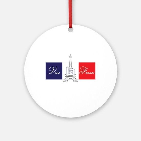 Vive la France! Ornament (Round)