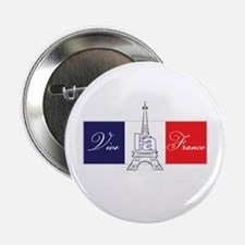 "Vive la France! 2.25"" Button (10 pack)"