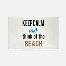Keep Calm and Think of the Beach Magnets