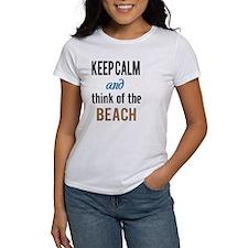 Keep Calm and Think of the Beach Tee