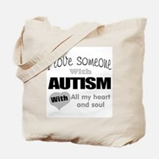 Love and autism Tote Bag