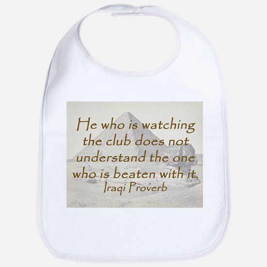 He Who Is Watching Cotton Baby Bib