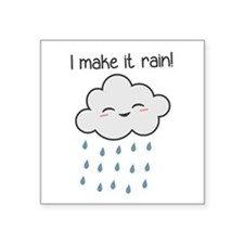I Make It Rain Cute Storm Cloud Sticker