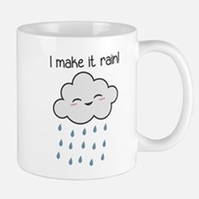 I Make It Rain Cute Storm Cloud Mugs