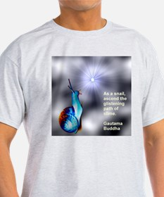Snail sees the light. T-Shirt