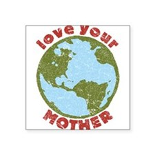 "Cute Mother earth Square Sticker 3"" x 3"""