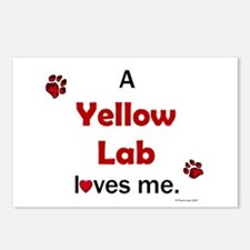 Yellow Lab Loves Me Postcards (Package of 8)