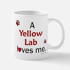 Yellow Lab Loves Me Mug