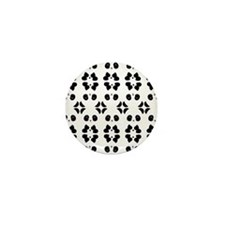 Panda Bears Pattern Mini Button