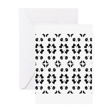 Panda Bears Pattern Greeting Cards