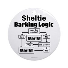 Sheltie Logic Ornament (Round)