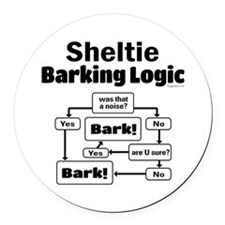 Sheltie Logic Round Car Magnet