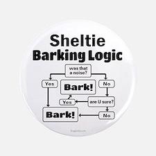"""Sheltie Logic 3.5"""" Button"""