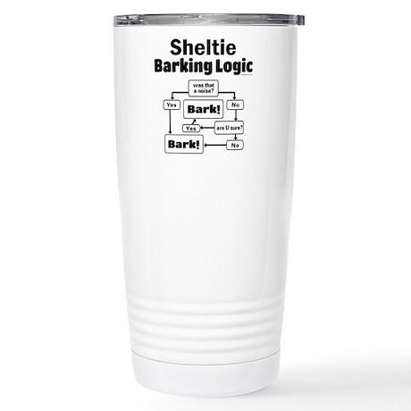 Sheltie Logic Stainless Steel Travel Mug