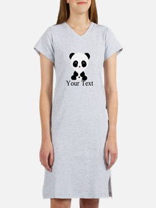 Personalizable Panda Bear Women's Nightshirt