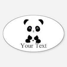 Personalizable Panda Bear Decal