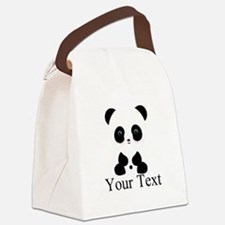 Personalizable Panda Bear Canvas Lunch Bag