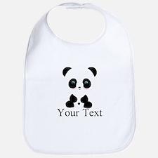 Personalizable Panda Bear Bib