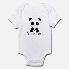 Personalizable Panda Bear Body Suit