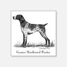 "German Shorthaired Pointer Square Sticker 3"" x 3"""