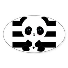 Panda on Black and White Decal